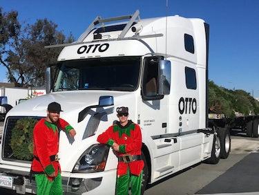 Watch Otto's Autonomous Semi Truck Deliver Christmas Trees