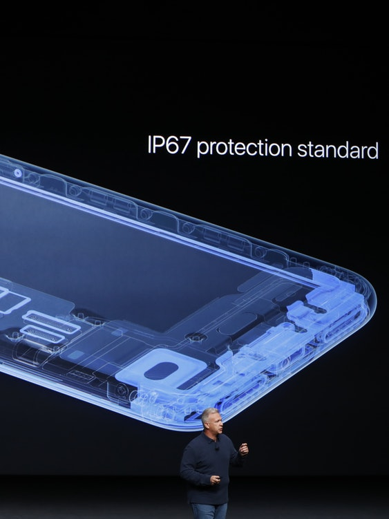 A photo from Apple's Keynote introducing the iPhone 7
