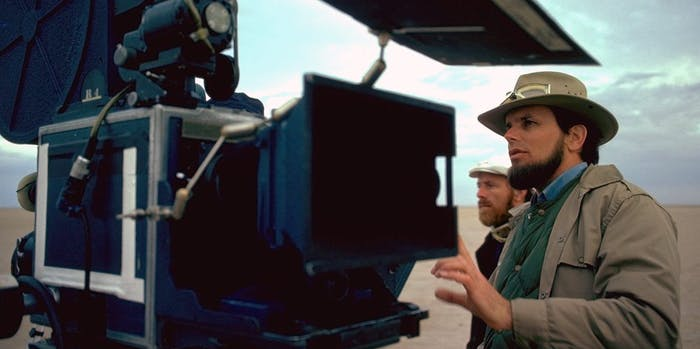 Gary Kurtz on the set of 'Star Wars' in 1976 (StarWars.com)