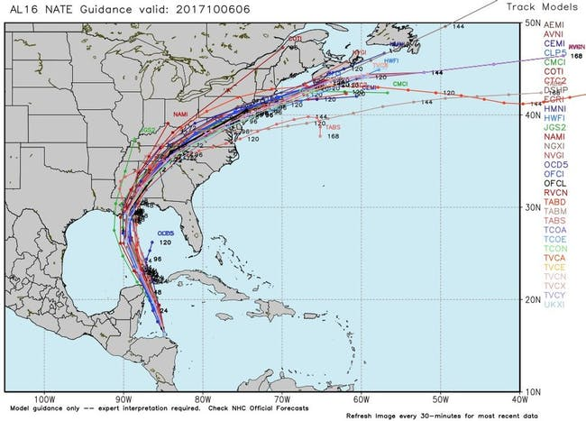 Tropical Storm Nate How To Read Spaghetti Models As It Nears The
