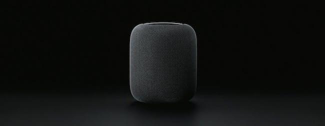 HomePod in black.