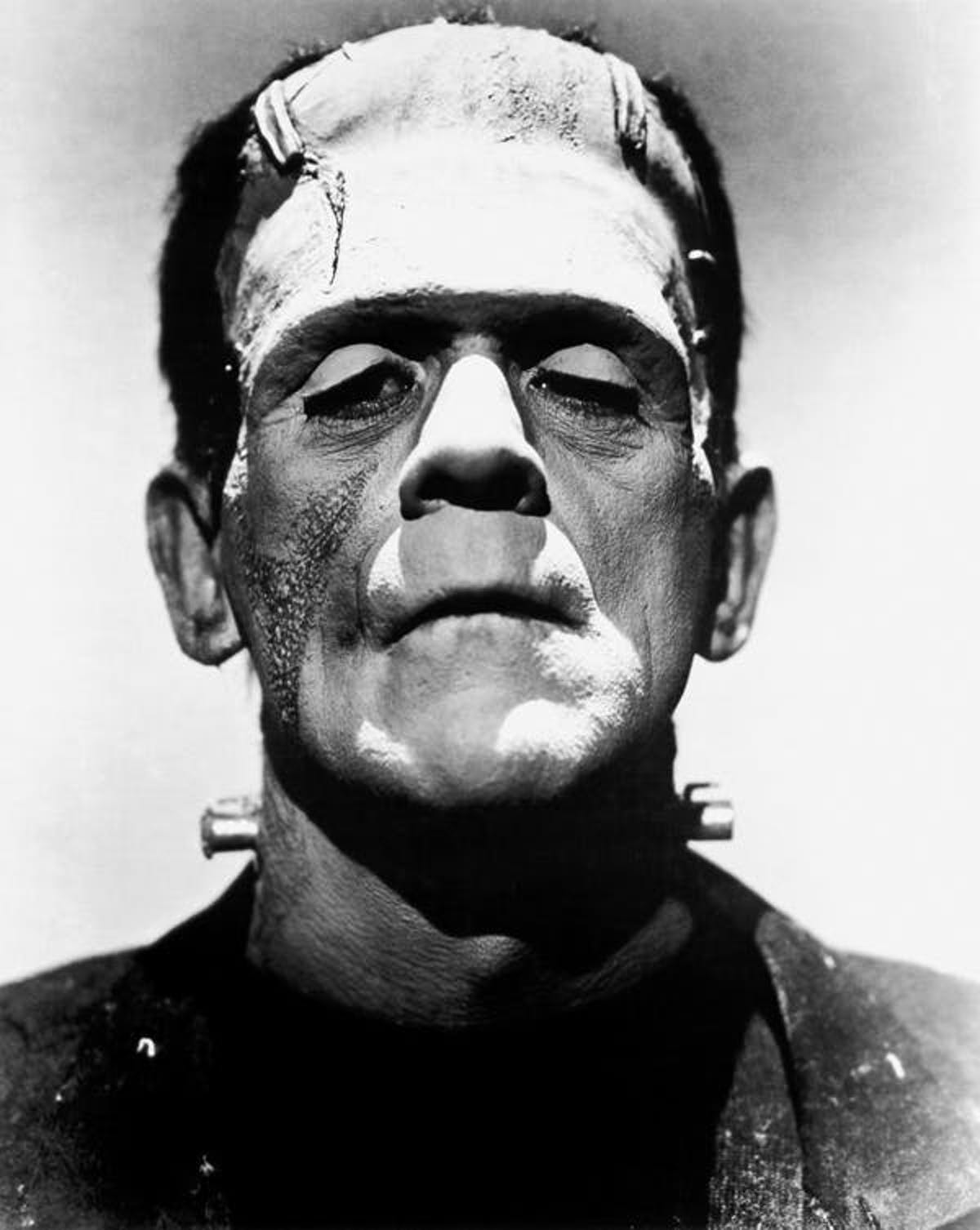 Boris Karloff plays Frankenstein's monster, 1935.