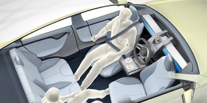 Self driving car interior