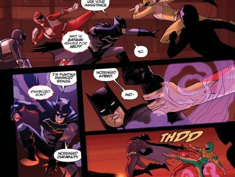 The Power Rangers Beat Up Batman in DC Crossover Comic