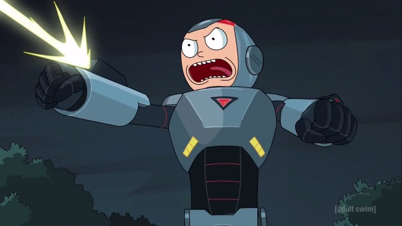 Morty gets a little too into the Purge.