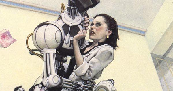 "Illustration for 'I,Robot' ""LIAR"" by Mark Zug"
