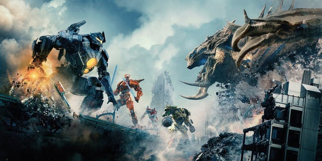 A team of Jaegers faces off against he biggest Kaiju ever in the climax of 'Pacific Rim: Uprising'.