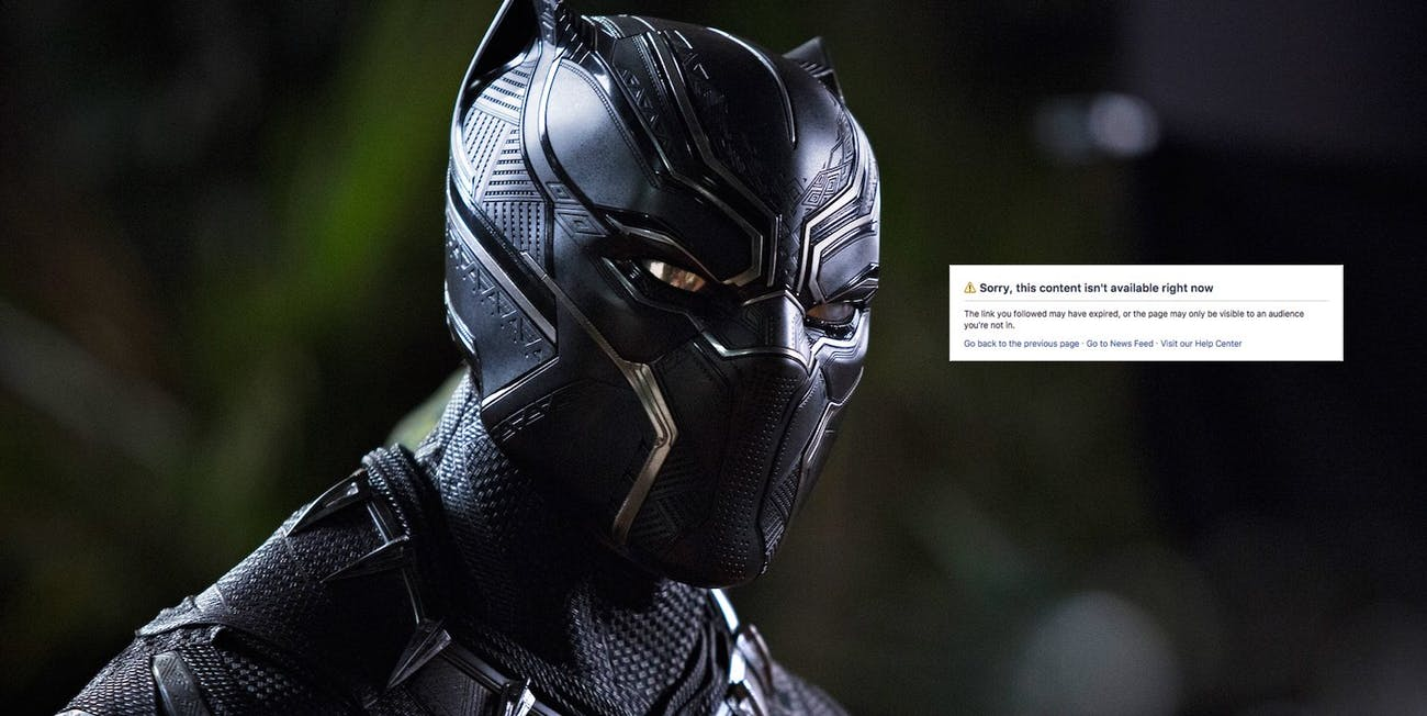 An alt-right Facebook group looking to sabotage 'Black Panther' has been banned.