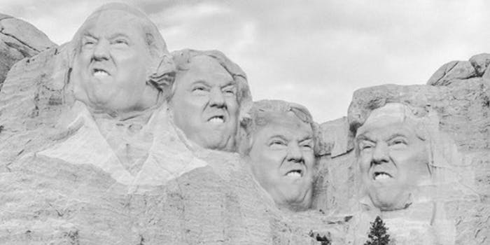 president donald trump mount rushmore