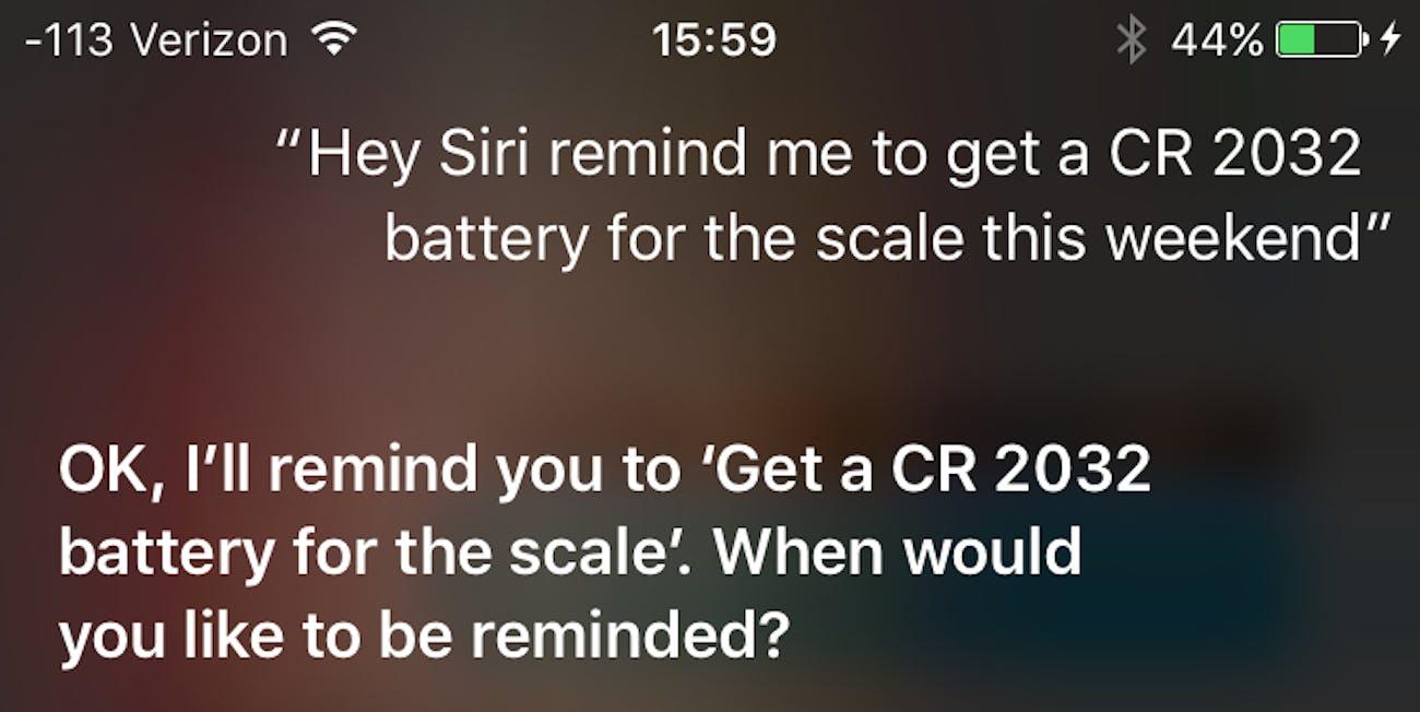 Siri failing