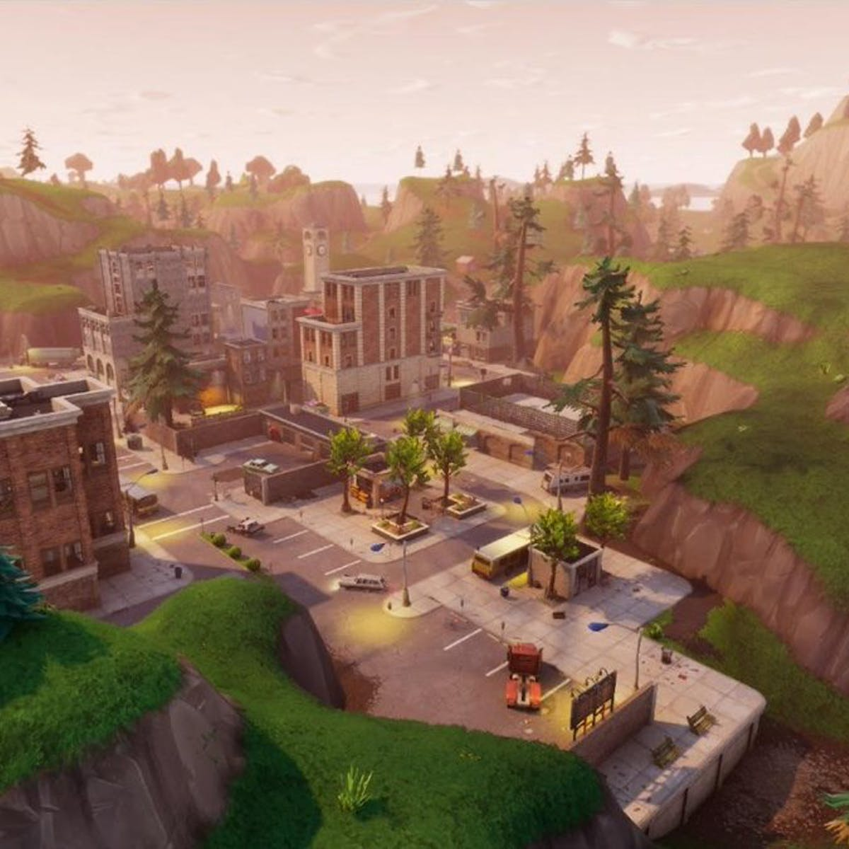 fortnite pleasant park treasure map where to find the week 7 battle star inverse - pleasant park fortnite