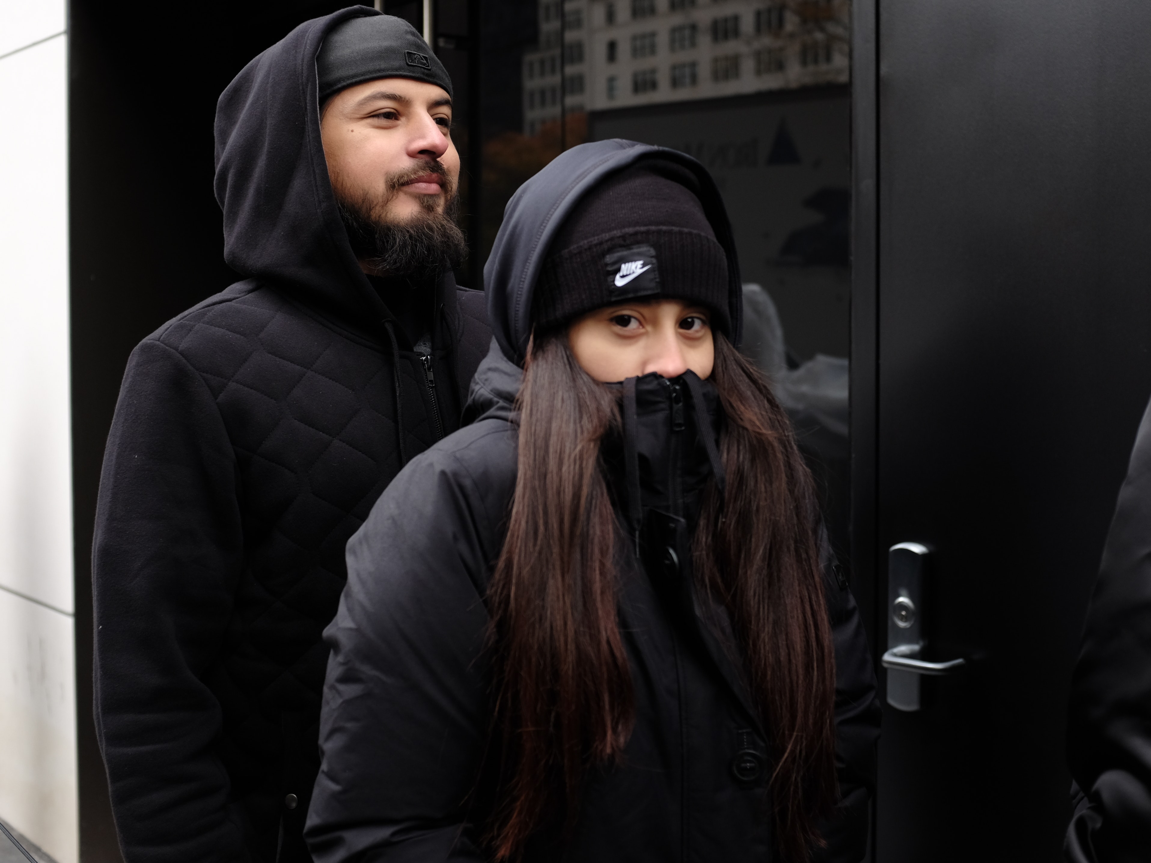 Destiny and her dad, Ramiro, braving the cold.