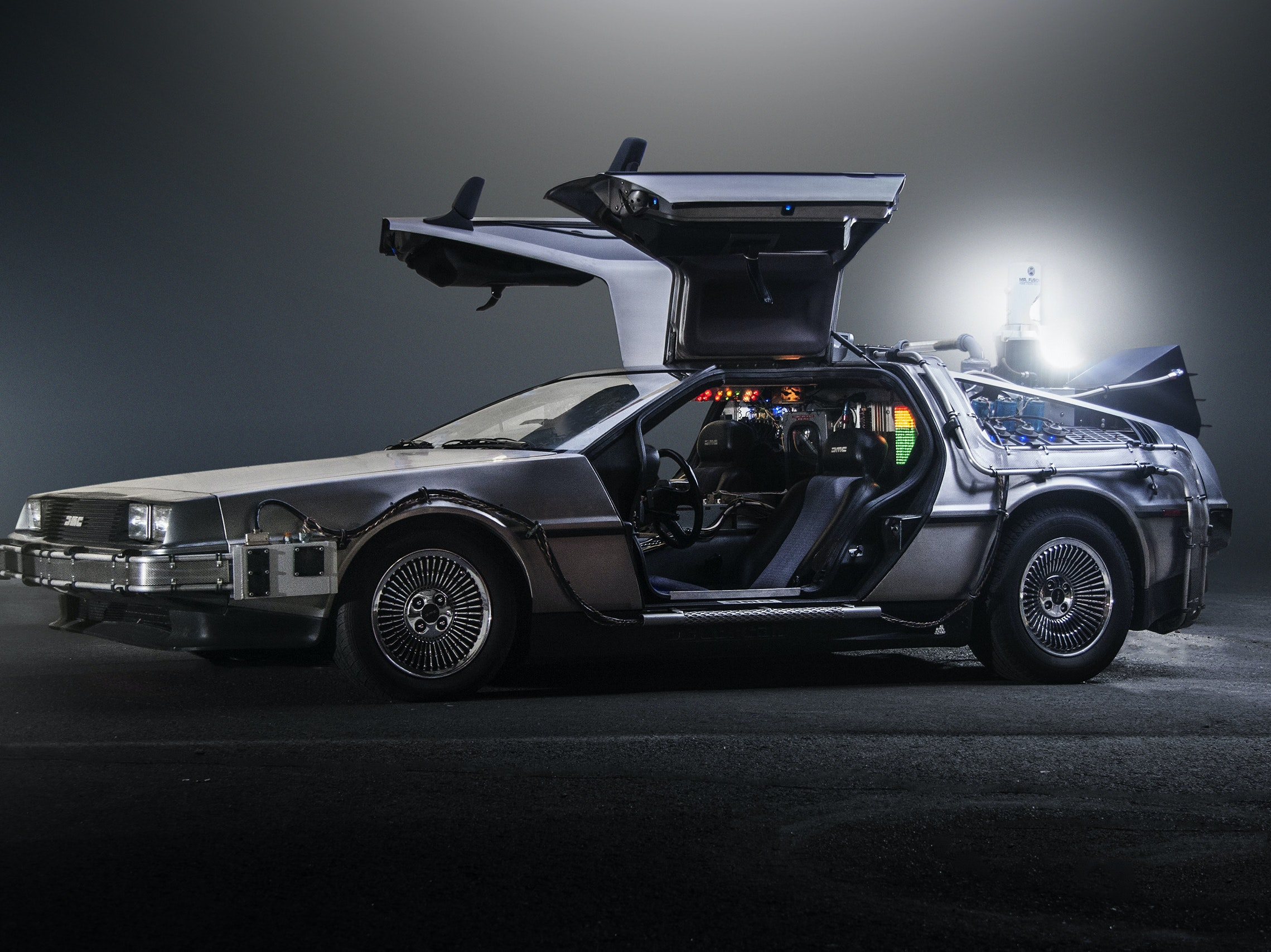 "Emmett ""Doc"" Brown's customized DeLorean."