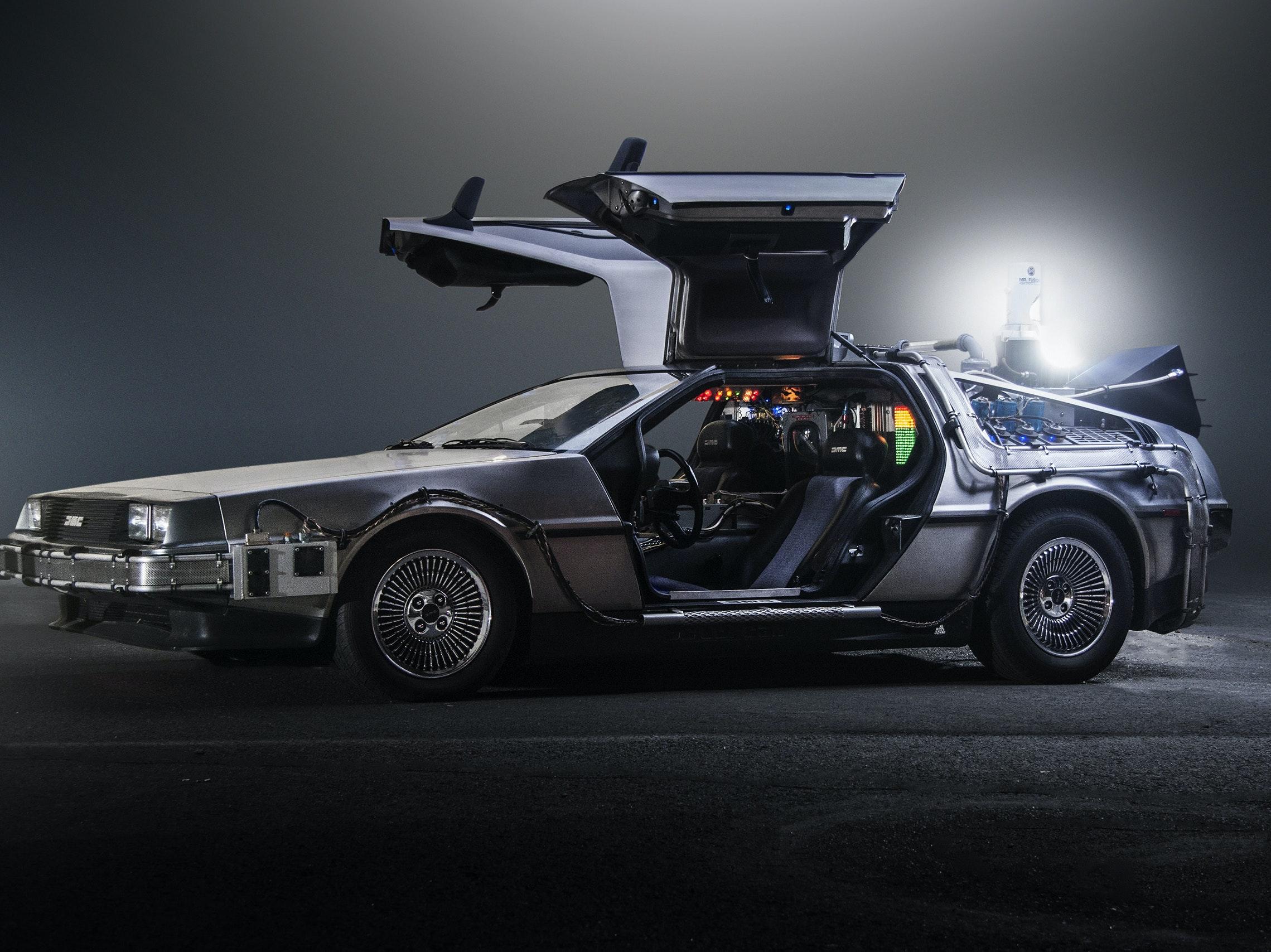 "Emmett ""Doc"" Brown's customized DeLorean."