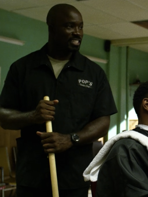 Luke Cage at Pop's Barbershop