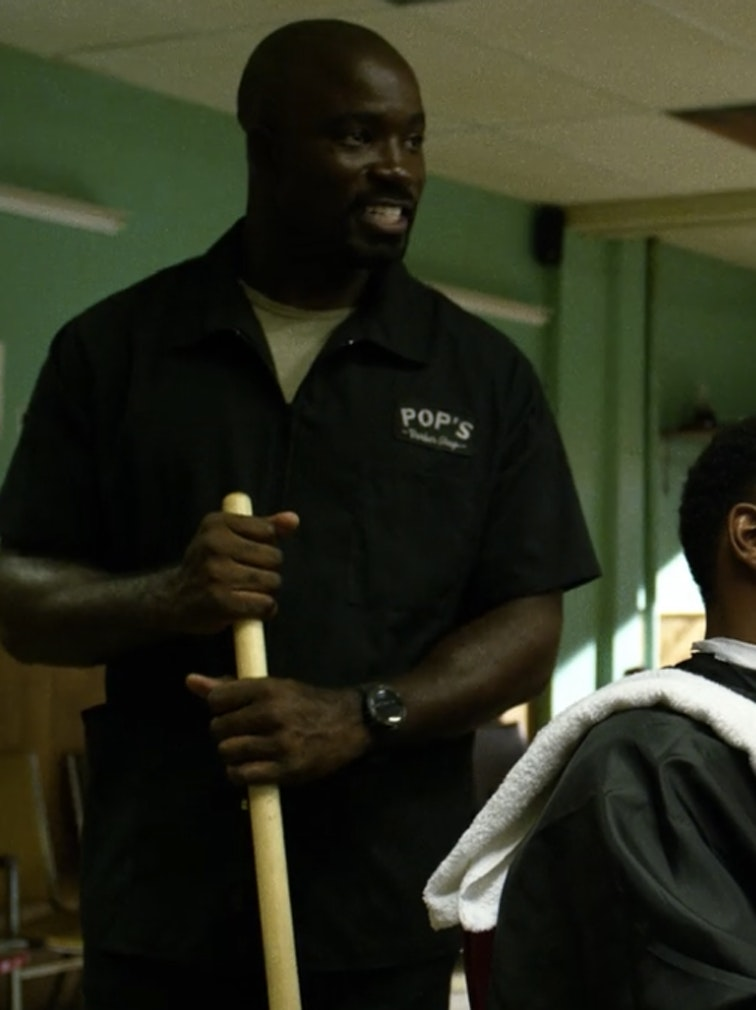 Luke Cage at Pop's Barbershop