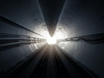 The Boring Company's tunnel.