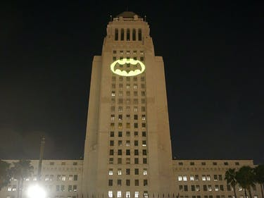 Bat-signal Los Angeles LA