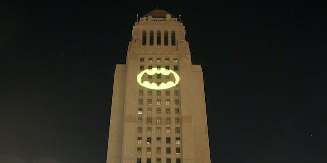 Bat-signal Los Angeles LA