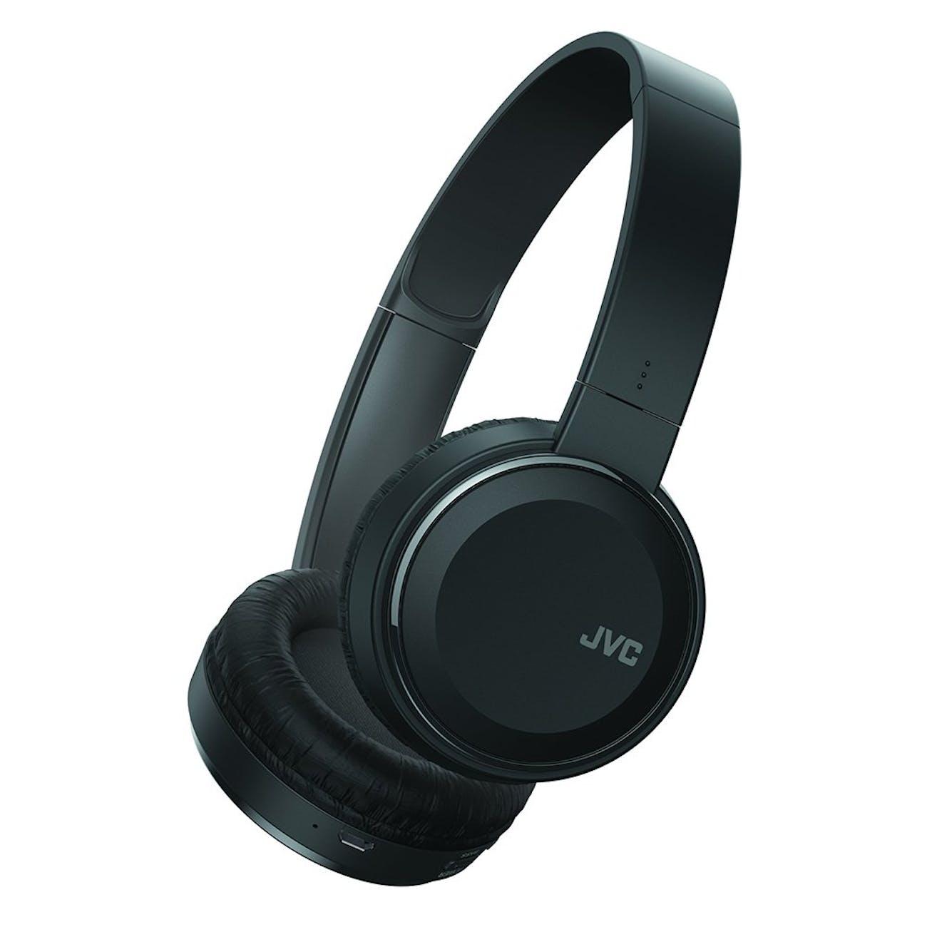 JVC Wireless Lightweight Flat Foldable On Ear Bluetooth Wireless Headband with Mic, Black (HAS190BTB)