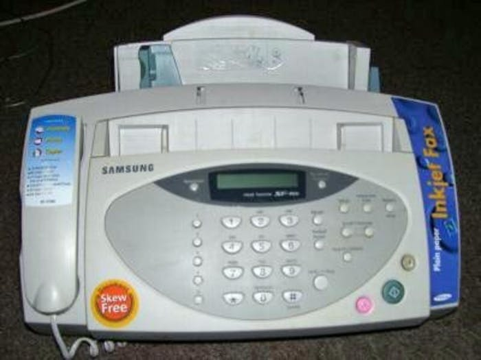 A modern fax machine.