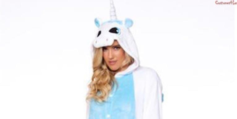 White Unicorn Adult Onesie