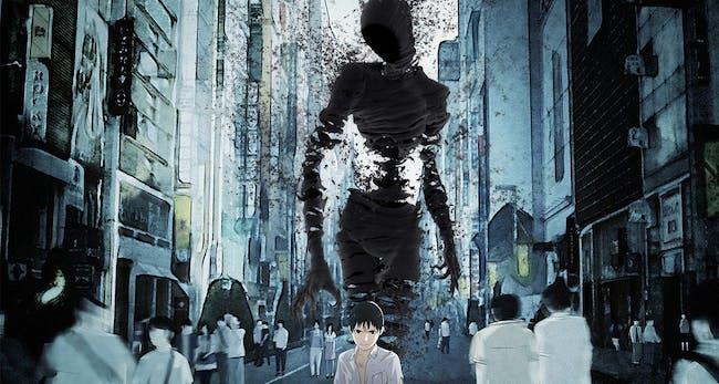 Kei Nagai with his Ajin form looming behind him.