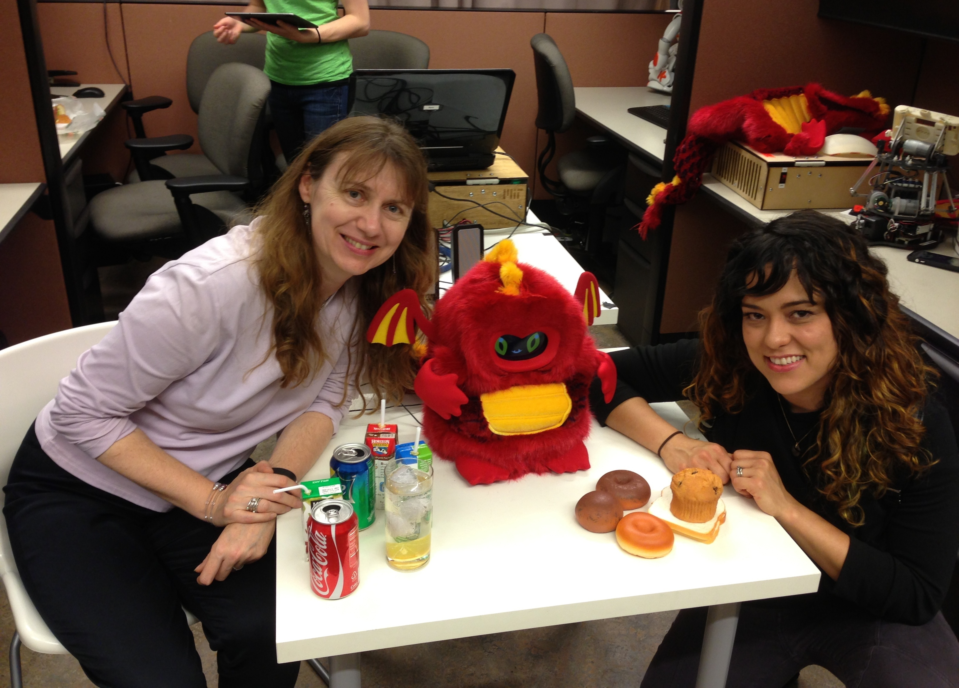Mataric and a kid-friendly robot.