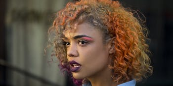 Tessa Thompson is Detroit in 'Sorry to Bother You'.