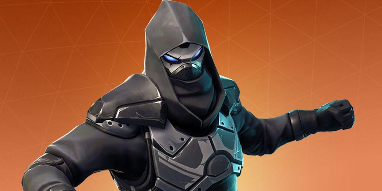 The 'Fortnite' Season 5 Road Trip Outfit Enforcer looks like a scary ninja.