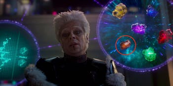 The Infinity Stones in the Marvel Cinematic Universe as shown by the Collector.