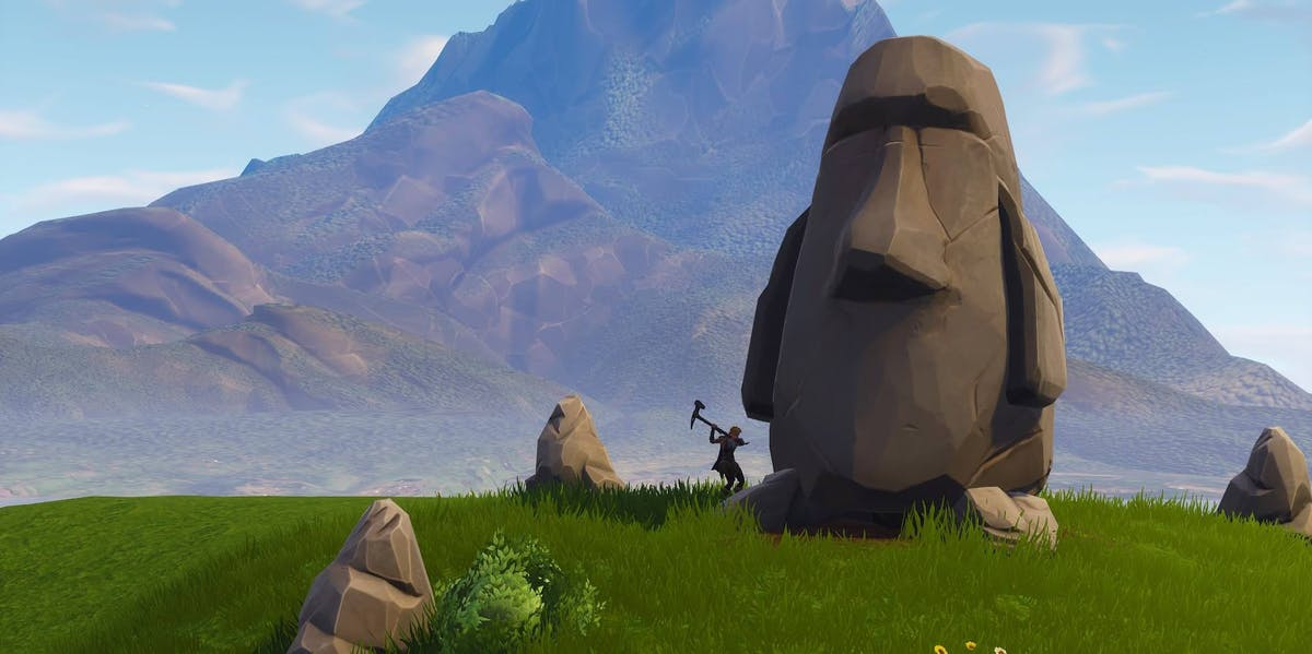 fortnite search stone heads location map and video for week 6 challenge inverse - where do the stone heads look in fortnite