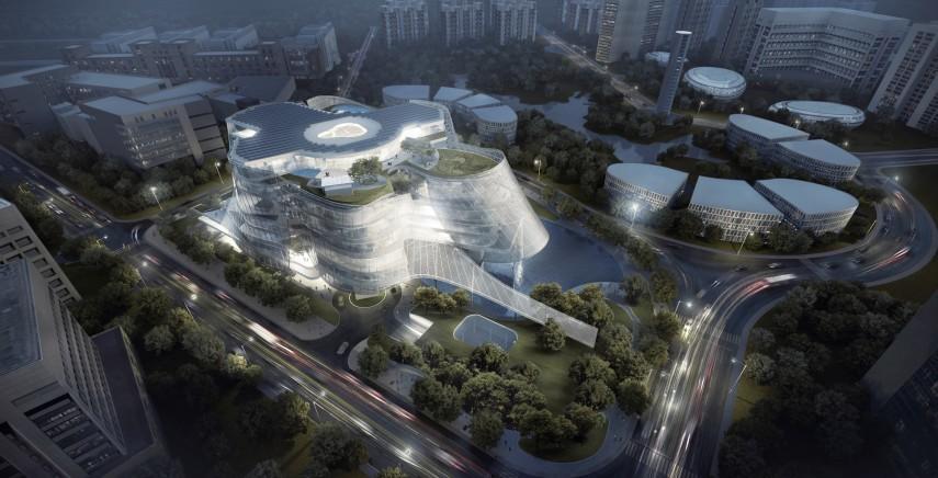 MAD's rendering of the Xinhee Design Center in Beijing