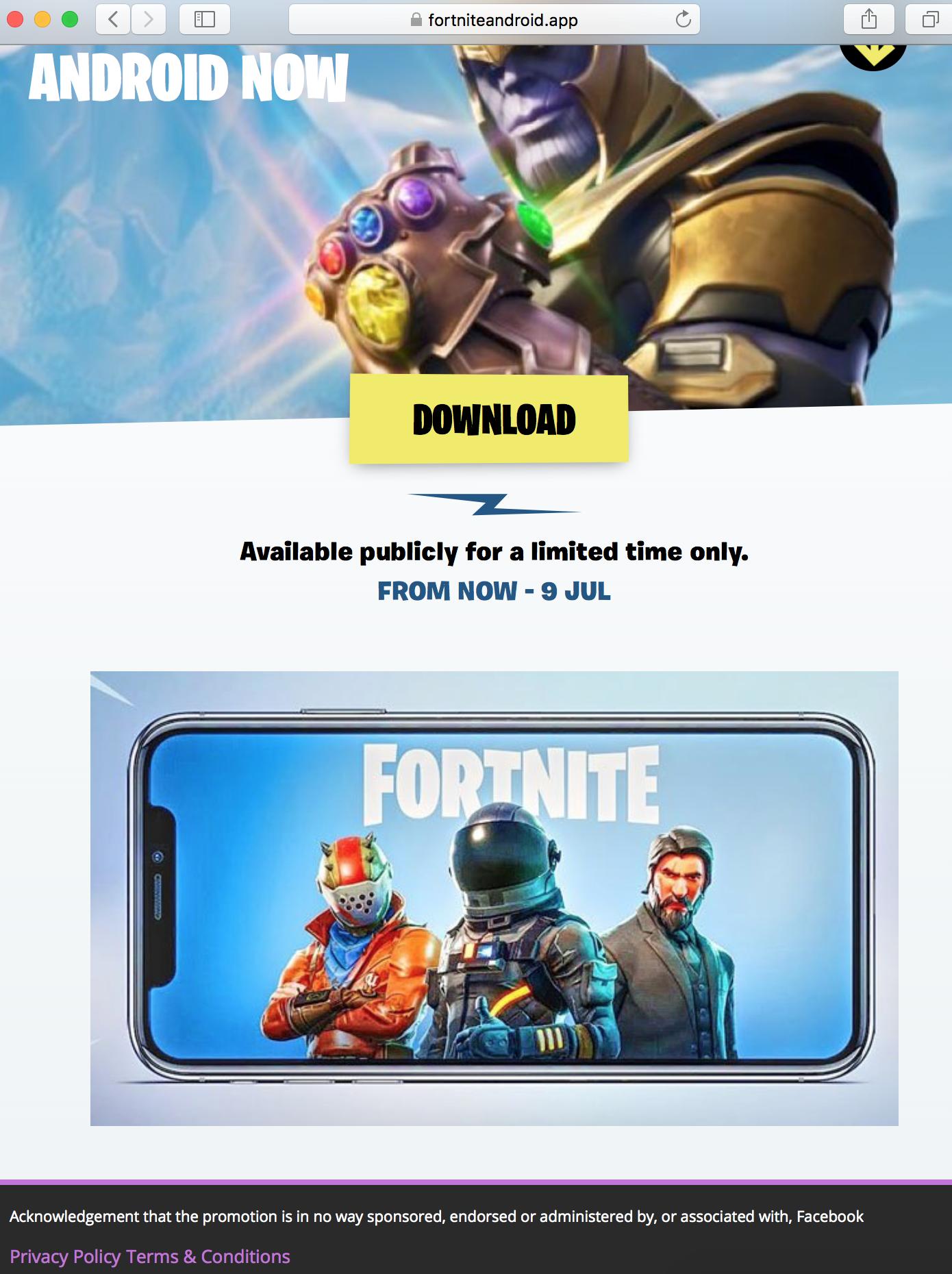 Descargar fortnite mobile