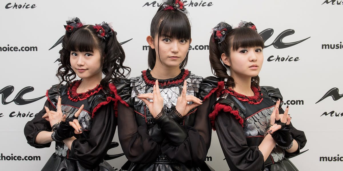 NEW YORK, NEW YORK - APRIL 04:  (L-R) Yuimetal, Su-metal, and Moametal of the band Babymetal Visit Music Choice on April 4, 2016 in New York City.  (Photo by Mike Pont/Getty Images)