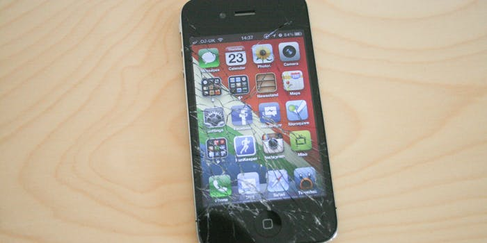 This is why you shouldn't drop iPhones onto bricks...