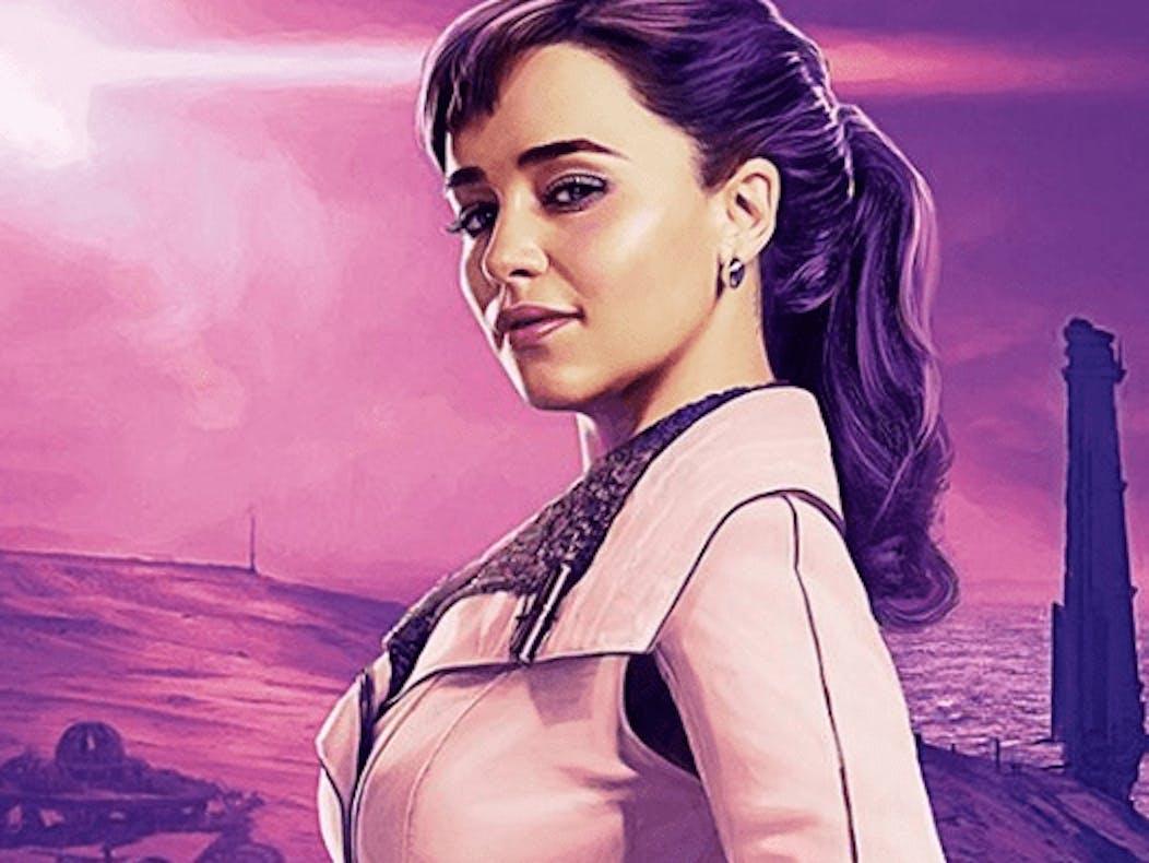 Emilia Clarke  as Qi'ra in 'Solo: A Star Wars Story'