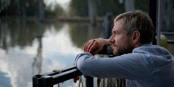 Martin Freeman plays a desperate father in the zombie movie 'Cargo'.