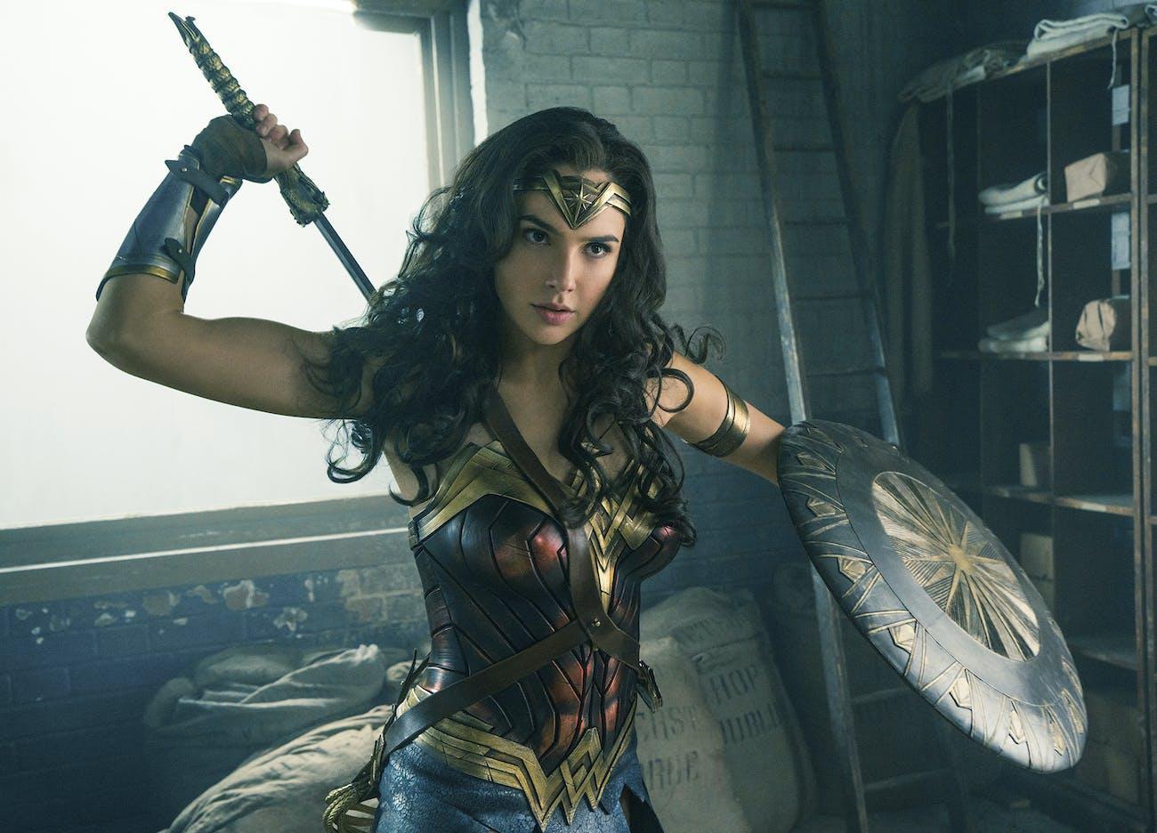 Gal Gadot as 'Wonder Woman'.