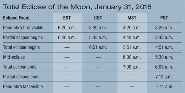 January 31 Lunar Eclipse Map.The West Coast Will Have A Perfect View Of January 31 Total Lunar