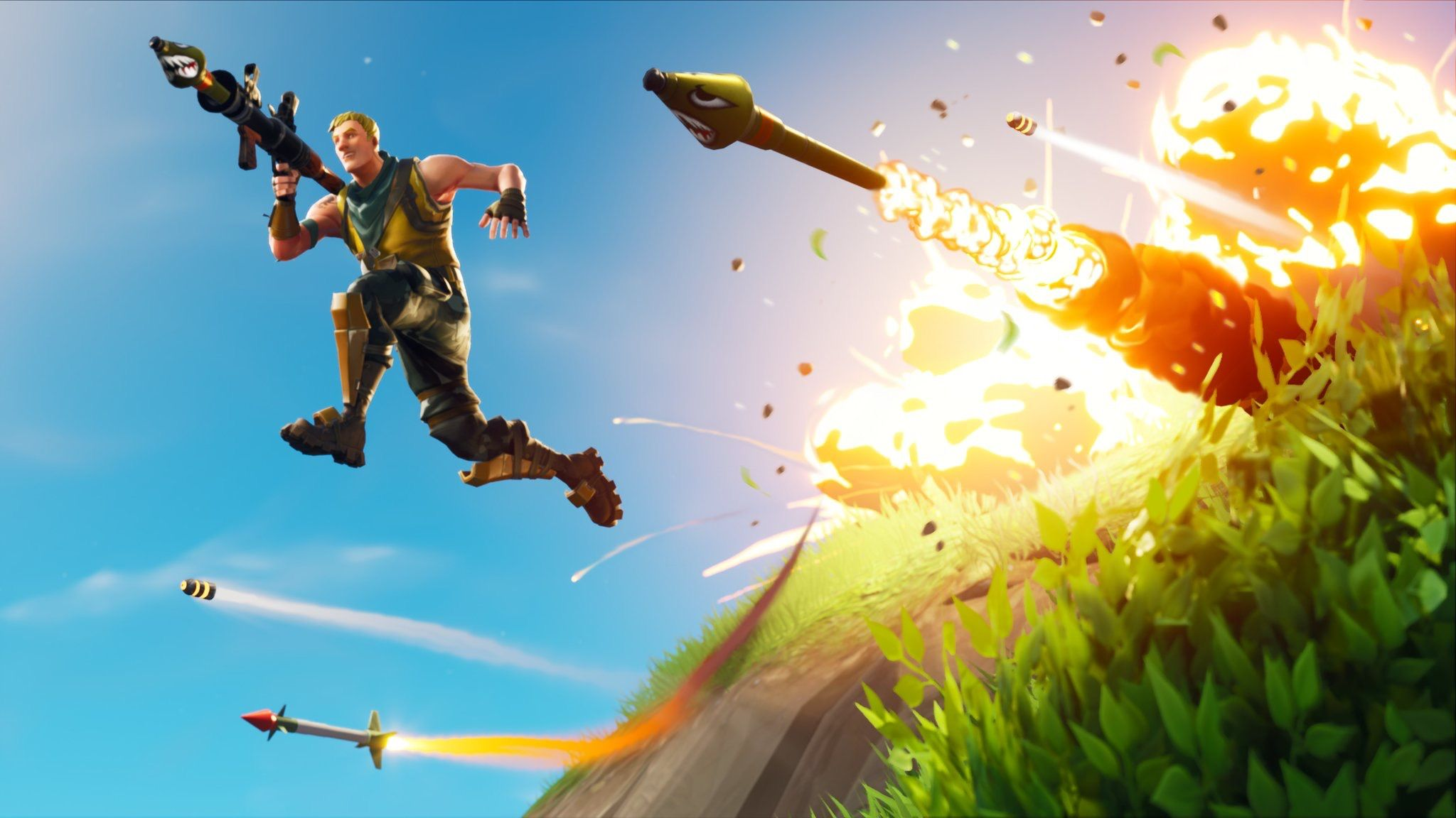 fortnite leaks reveal quad launcher suppressed scar and