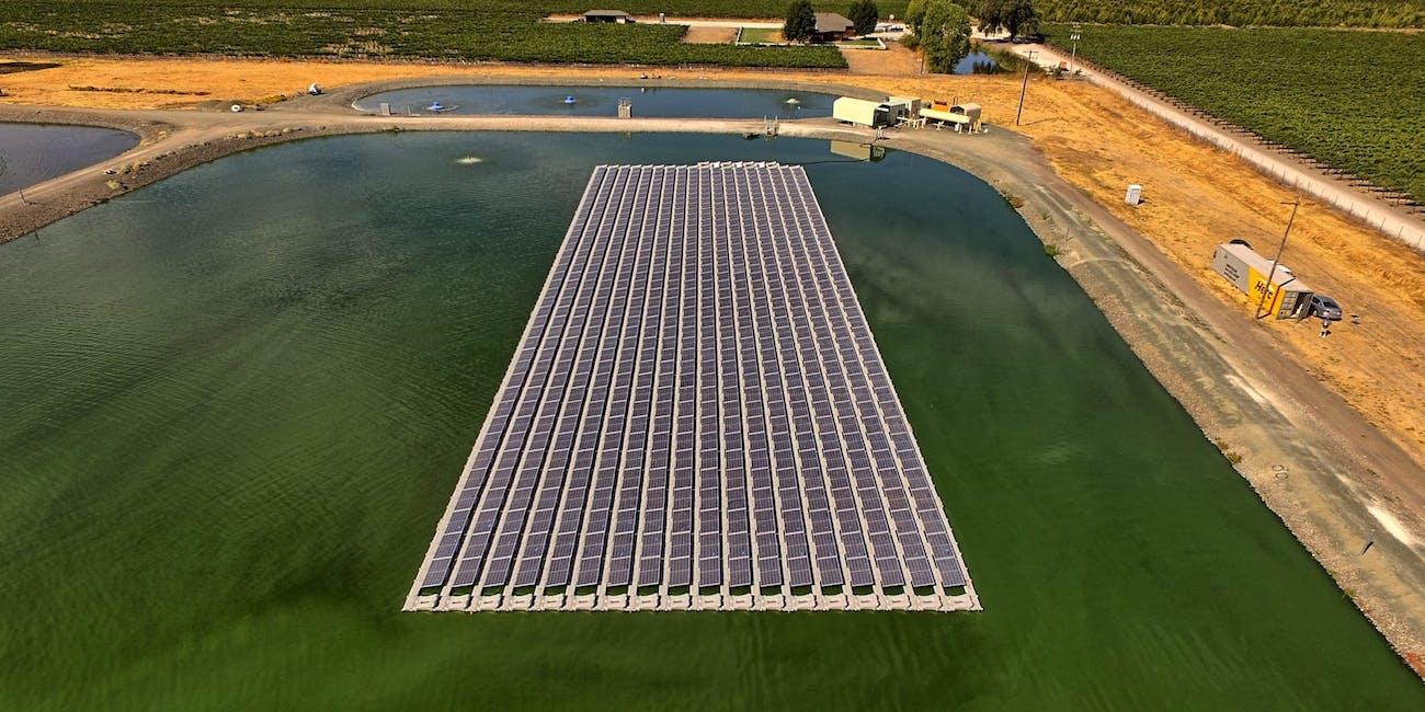 Floating solar array in Kelseyville, Califronia from Ciel & Terre