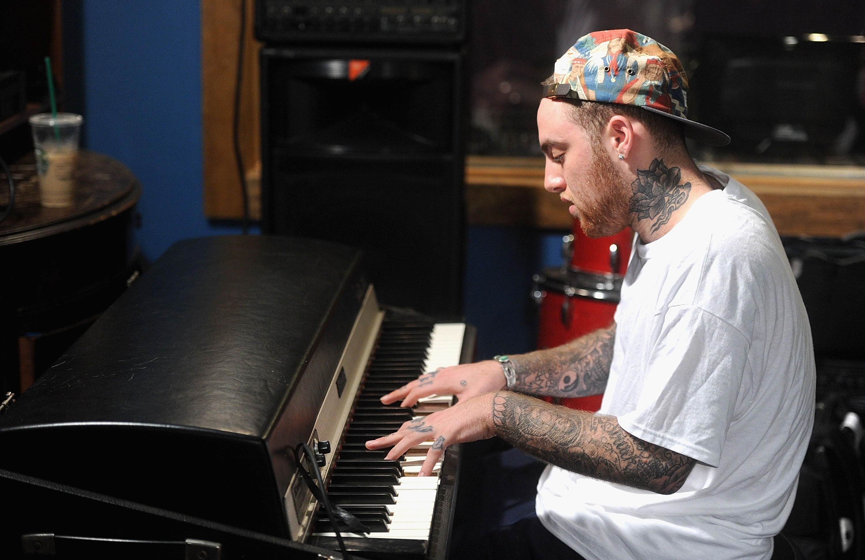 NEW YORK, NY - JULY 17:  MAC Miller performs during Behind The Scenes With MAC Miller Filming Music Choice's 'Take Back Your Music' Campaign at Music Choice on July 17, 2013 in New York City.  (Photo by Jamie McCarthy/Getty Images)
