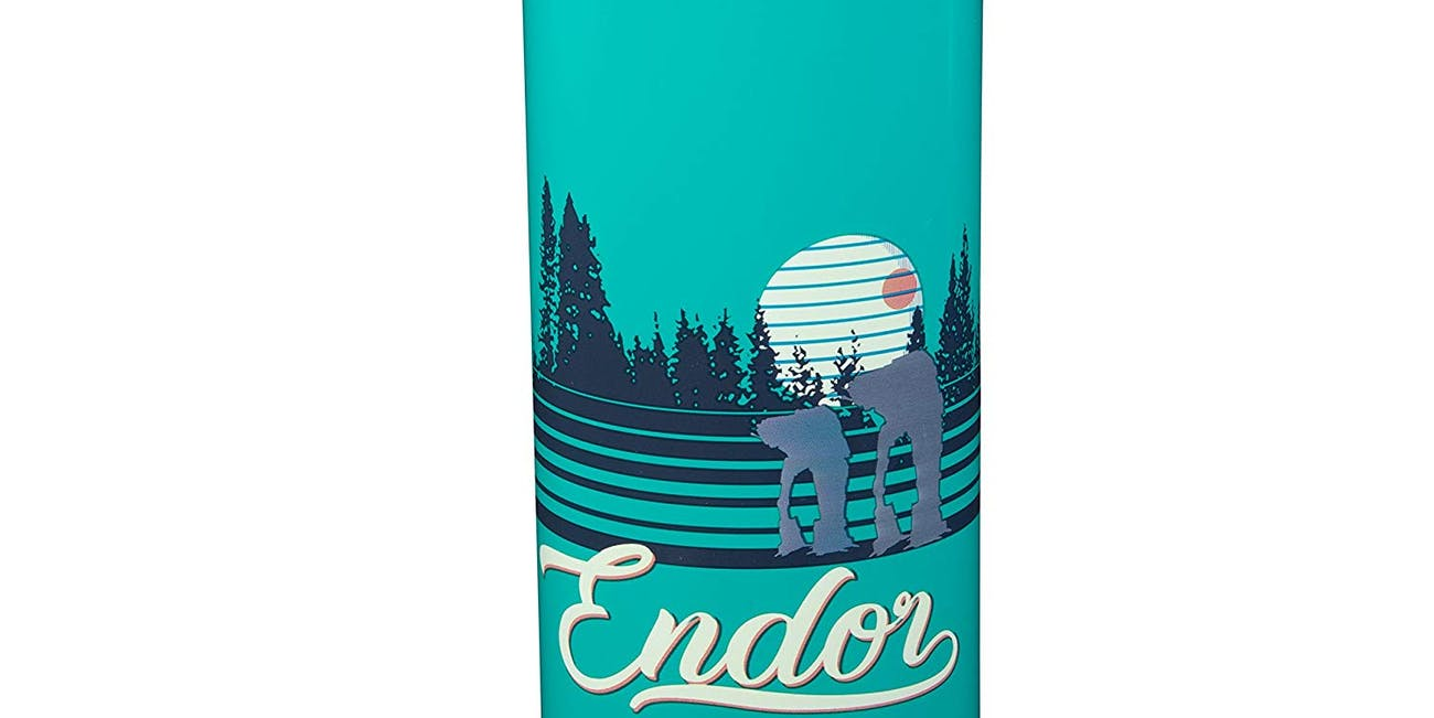 Star Wars Stainless Steel Water Bottle - Fun Retro Endor Design - Vacuum Insulated - 18 oz