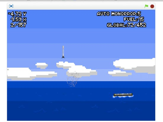 Try to Land a SpaceX Falcon 9 Rocket in This Old-School Video Game