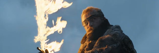Beric likes flaming swords and coming back from the dead.
