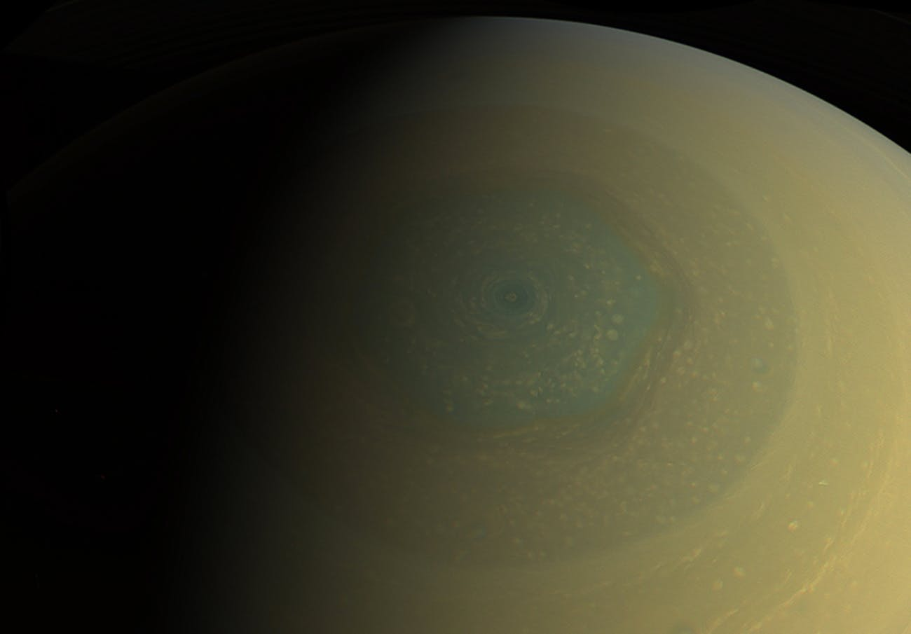 saturn's giant storm