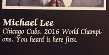 The Cubs Yearbook Prophet Is More Likely a Probability Whiz