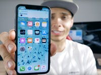iphone x with black dot