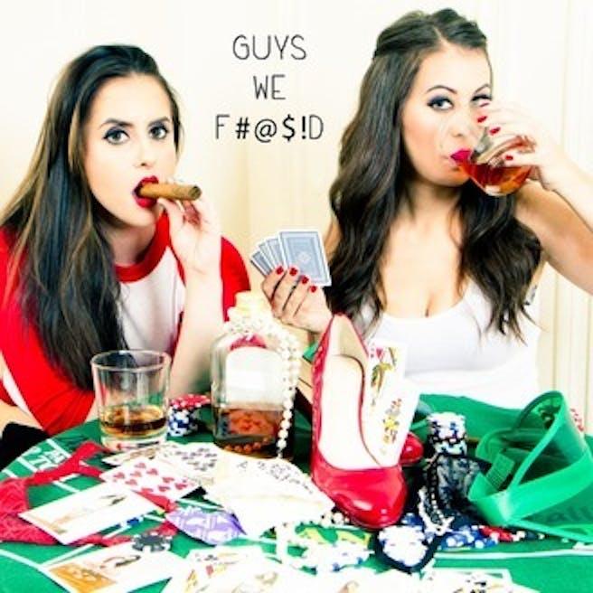 """Co-hosts of """"Guys We Fd."""""""
